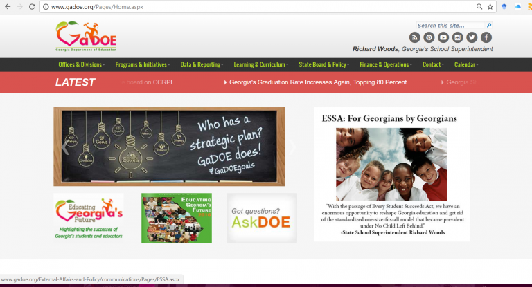 GA Dept of Education Website