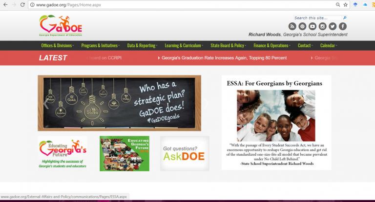 GA Dept of Education Website