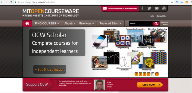 MIT Open Course Website